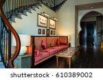 dubai. summer 2016. the... | Shutterstock . vector #610389002