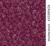 beautiful vintage floral... | Shutterstock .eps vector #610389626