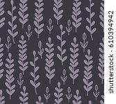 nature seamless pattern. hand... | Shutterstock .eps vector #610394942