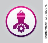 engineer icon. flat isolated... | Shutterstock .eps vector #610402976