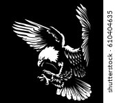 eagle emblem isolated on white... | Shutterstock .eps vector #610404635