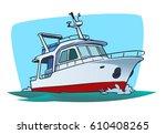 boat illustration | Shutterstock .eps vector #610408265