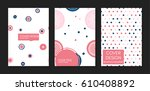 collection of creative covers....   Shutterstock .eps vector #610408892