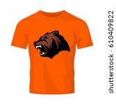 furious bear head sport vector...   Shutterstock .eps vector #610409822