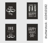 happy fathers day | Shutterstock .eps vector #610410182