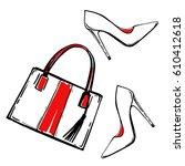 Hand Bag And Shoes Fashion...