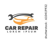 car repair logo. car icon. auto ... | Shutterstock .eps vector #610419932