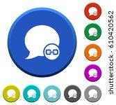 blog comment attachment round... | Shutterstock .eps vector #610420562