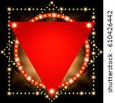 abstract shining retro light... | Shutterstock .eps vector #610426442
