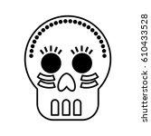 mexican skull mask icon vector... | Shutterstock .eps vector #610433528