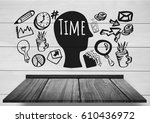 digital composite of time text... | Shutterstock . vector #610436972