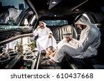 arabic businessmen in dubai | Shutterstock . vector #610437668