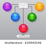 vector infographic elements.... | Shutterstock .eps vector #610443146