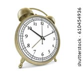 old style alarm clock isolated... | Shutterstock . vector #610454936