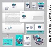 logo nest. clothing store for...   Shutterstock .eps vector #610457606