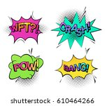 comic bubble speech for... | Shutterstock .eps vector #610464266