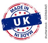 made in uk or england rubber... | Shutterstock .eps vector #610466465