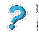 Blue Question Mark Image Vector ...