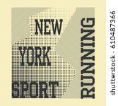 athletic sport running...   Shutterstock .eps vector #610487366