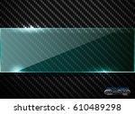 vector black carbon fiber...   Shutterstock .eps vector #610489298