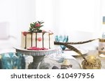Cake With Flowers In Spring...