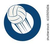 volleyball sport emblem icon   Shutterstock .eps vector #610505606
