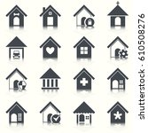home vector icons set.