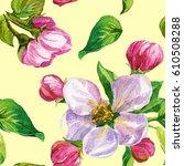 watercolor seamless pattern.... | Shutterstock . vector #610508288