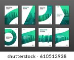 brochure cover design layout... | Shutterstock .eps vector #610512938