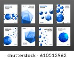 corporate brochure cover design ... | Shutterstock .eps vector #610512962