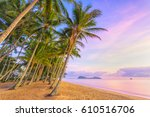 sunrise at palm cove one of the ... | Shutterstock . vector #610516706