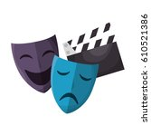 movie entertainment set icons | Shutterstock .eps vector #610521386