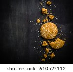 oatmeal cookies are their... | Shutterstock . vector #610522112