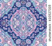 beautiful indian floral paisley ...   Shutterstock .eps vector #610527335