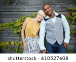 attractive and stylish... | Shutterstock . vector #610527608