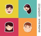 happy children day | Shutterstock .eps vector #610549112