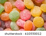 assortment of sugar coated candy | Shutterstock . vector #610550012