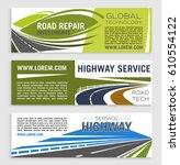 road repair and highway service ... | Shutterstock .eps vector #610554122