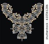 vintage necklace female...   Shutterstock .eps vector #610561286