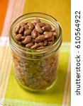 Pinto Beans In Glass Jar