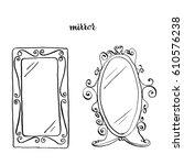 vintage mirrors  vintage...   Shutterstock .eps vector #610576238