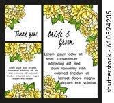 vintage delicate invitation... | Shutterstock .eps vector #610594235