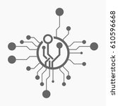 technology background template. | Shutterstock .eps vector #610596668