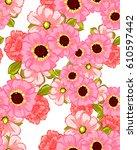abstract elegance seamless... | Shutterstock . vector #610597442