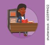 african american student... | Shutterstock .eps vector #610599422