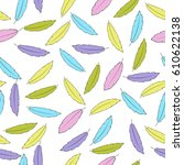 feathers seamless pattern.... | Shutterstock .eps vector #610622138