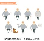 grandfather character for...   Shutterstock .eps vector #610622246
