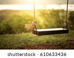 children swing in the park ... | Shutterstock . vector #610633436