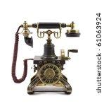 old vintage telephone | Shutterstock . vector #61063924
