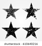 set of grunge stars.vector... | Shutterstock .eps vector #610640216